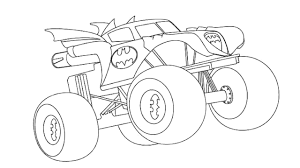 100 Monster Truck Batman Coloring Pages For Adults Printable Coloring Page