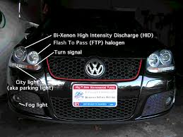 inner headlights on us market gti bi xenon equipped function