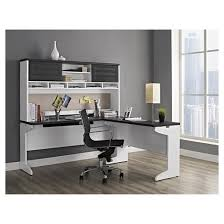 Ameriwood L Shaped Desk With Hutch Instructions by Pursuit L Shaped Desk With Hutch Bundle White Gray Ameriwood