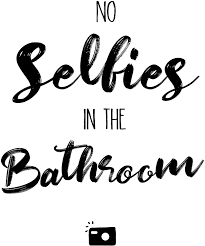 lustiger spruch badezimmer gäste wc toilette klo typographie
