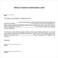 Medical Treatment Authorization Letter Template Child Consent Form Parental For Minor