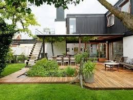 charmant amenager jardin devant maison 3 terrasse bois
