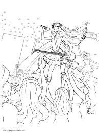Barbie Princess And Popstar Coloring Page