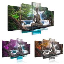 5x Buddha Zen Landscape Painting Canvas Print Modern Picture Wall
