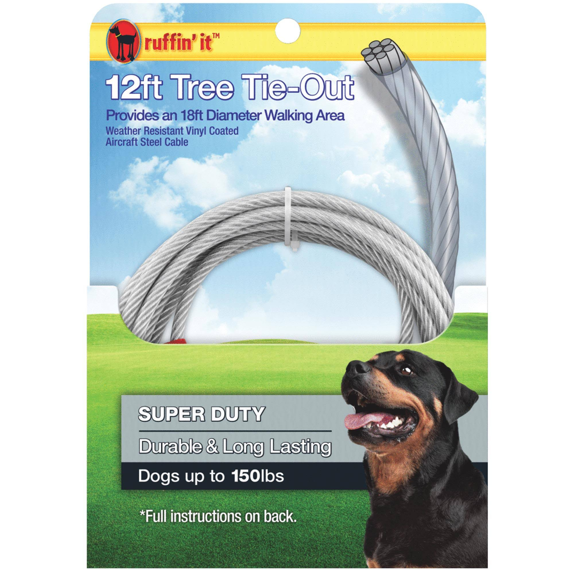 Ruffin Dog Tree Tie Out Cable - 18'