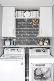 Kent Moore Cabinets Bryan Texas by Laundry Room Refresh With Peel And Stick Backsplash Wall Tile