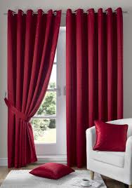 Lined Curtains For Bedroom by Danielle Red Lined Eyelet Curtains Best Curtain 2017