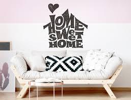 sprüche wandtattoo englisch home sweet home wohnzimmer