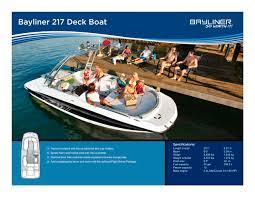 Bayliner 190 Deck Boat by 217 Deck Bayliner Pdf Catalogues Documentation Boating