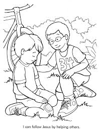 Helping others Sunday Schoo Coloring Page