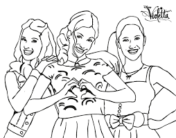 Printable Coloring Pages Violetta