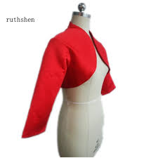 online get cheap red satin shrug aliexpress com alibaba group