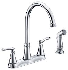 2 Handle Kitchen Faucet by Tuscany Marianna Two Handle Kitchen Faucet At Menards