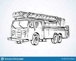 99 How To Draw A Fire Truck Step By Step Truck Vector Drawing Stock Vector Illustration Of