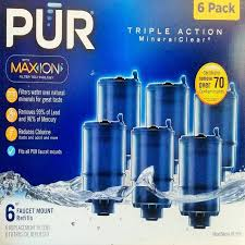 Pur Faucet Water Filter Refill by Mineralclear Faucet 3 Stage Refill Filters 6 Pack Rf 9999