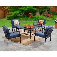 Patio Furniture Conversation Sets With Fire Pit by 5 Piece Patio Conversation Set With Fire Pit Aluminum Garden