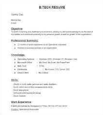 Resume Samples For Freshers Pdf Format Fresher Professional