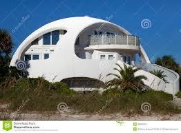 100 Beach House Architecture Unusual Dome Shape Stock Photo
