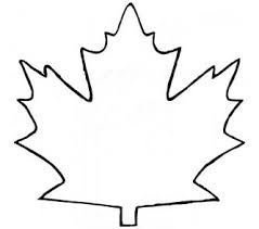 Maple Leaf Outline Clipart Kids Coloring Europe Travel Guides