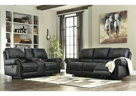 darrin leather reclining sofa with console black lane prime power