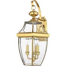 quoizel ny8318b 3 light newbury outdoor lantern in polished brass