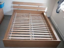 ikea hopen oak veneer super king bed frame slats in swindon
