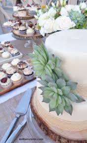 Natural In July Wedding Dessert Table Via Milissweets