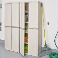 Sterilite Storage Cabinet Target by Amazon Com Sterilite 01428501 4 Shelf Cabinet With Putty Handles