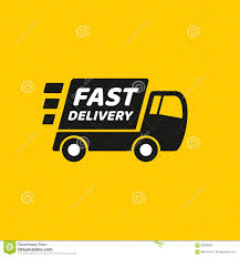 Fast Delivery. Truck Icon On Yellow Background Stock Vector ... Vector Delivery Truck Icon Isolated On White Background Royalty Stock Art More Images Of Adhesive Truck Icon Flat Free Image Designs Mein Mousepad Design Selbst Designen Style Illustration Delivery Image Clock Offering Getty 24 7 Website Button
