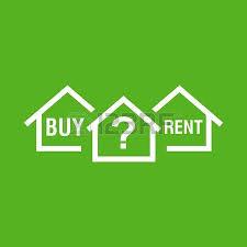 acheter ou louer maison blanc symbole de la maison avec la