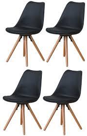 4x esszimmerstuhl nelle küchenstuhl esszimmer küche stuhl stühle eiche schwarz