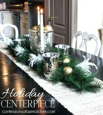 Christmas Dining Room Table Extraordinary Decorating Lovely Centerpiece Ideas With Elegant