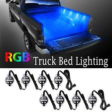 RGB Multi Color Super Bright Work Light 8pcs LED Truck Bed Lights ... Truck Bed Lighting Kit 8 Modules Free Installation Accsories Cheap System Find Opt7 Aura 8pc Led Sound Activated Multi Lumen Trbpodblk 8pod Lights Ford F150 Where To Buy 12v White Light Strips For Cars Led Light Deals On Line At Aura Pod Multicolor With Remotes 042014 Rear Tailgate Emblem 2 Tow Hitch Cover White For Chevy Dodge Gmc Ledglow Installation Video Youtube 8pcs Rock Under Body Rgb Control