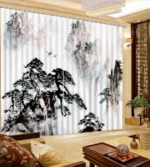 Brylane Home Grommet Curtains by Black And White Drapes Black Strips White Cotton Energy Saving