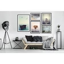 posterset deko bilder 5er kunstdruck wohnzimmer schlafzimmer wandgalerie natur