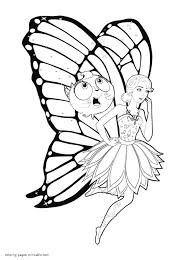 Awesome Printable Barbie Mariposa Cartoon Coloring Books For Kids