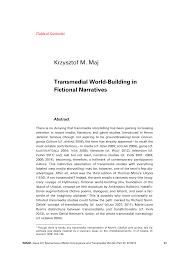 Kukkonen Karin And Klimek Sonja Krzysztof M Maj Transmedial World Building In Fictional