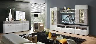 spirit wohnzimmer komplettset inkl led beleuchtung weiß grau günstig möbel küchen büromöbel kaufen froschkönig24