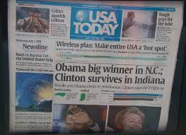Second Largest Circulated English Newspaper USA Today