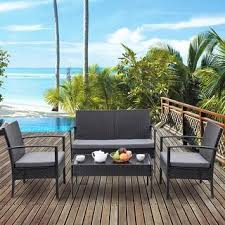 Black Patio Furniture Outdoor Seating & Dining For Less