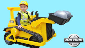 100 Kid Trax Fire Truck Battery CAT Bulldozer Tractor 12V S Ride On Car Unboxing And