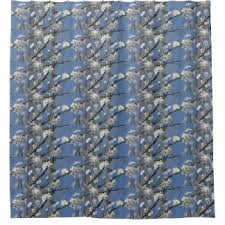 Cherry Blossom Curtain Blue by Cherry Blossom Shower Curtains Zazzle