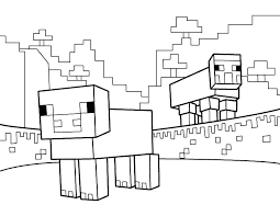 Minecraft Coloring Pages To Print Printable Creeper Animal