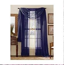 amazon com monagifts 2 panels navy blue sheer voile window panel