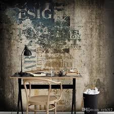 großhandel 3d nostalgische zement wand vintage tapete kaffee bar ktv persönlichkeit wohnzimmer sofa tv hintergrund tapeten wandbilder xyls312