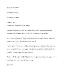 Two Weeks Notice Letter 8 Free Sample Example Format Download