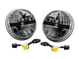 kc hilites 42321 7 led headlight for jeep jk pair