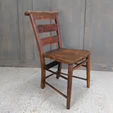 Dark High Back Antique Elm Church Chapel Chairs From All ...