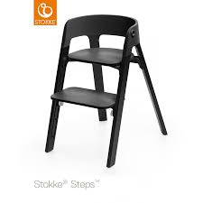 Stokke® Steps Chair - Black Seat - Oak Black Legs - High Chairs ...