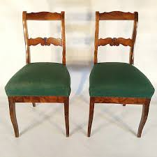 stuhl paar nußbaum biedermeier klassizismus stühle esszimmer möbel chair vintage